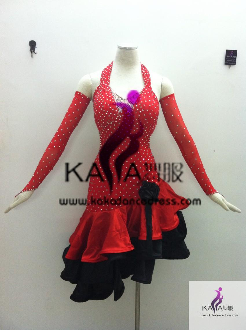 ae08927cff934 KAKA-L1328,Women Latin Dance Wear,Girls Salsa Practice Dance Dress Tango Samba  Rumba Chacha Dance Dress,Latin Dance Dres