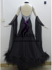 84ecdc14982d ... KAKA DANCE B1344,Ostrich Feather Ballroom Standard Dance Dress,Waltz  Dance Competition Dress,